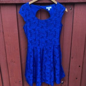 Royal blue lace dress Medium Candies